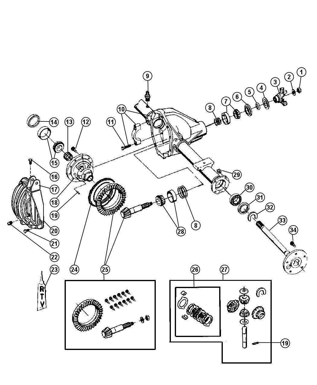 differential diagram for 2004 dodge ram 1500