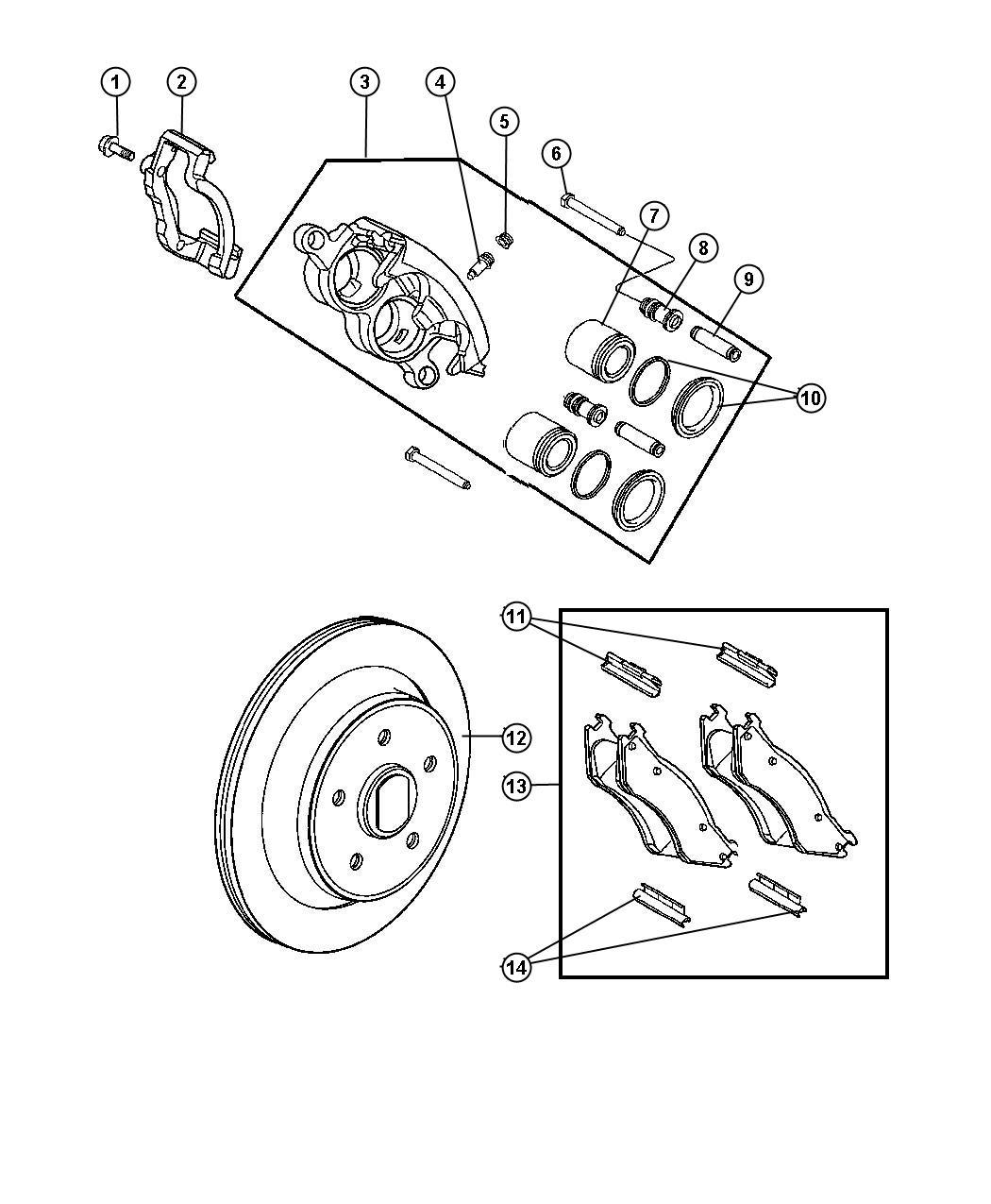 2011 Dodge Ram 5500 Rotor. Brake. Axle, rear, spin