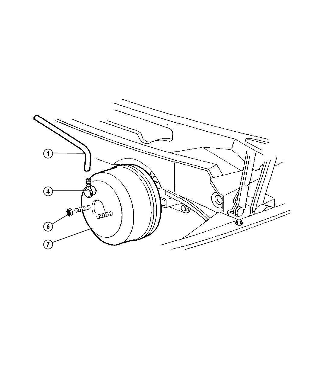 Dodge Ram Hose Brake Booster Engines