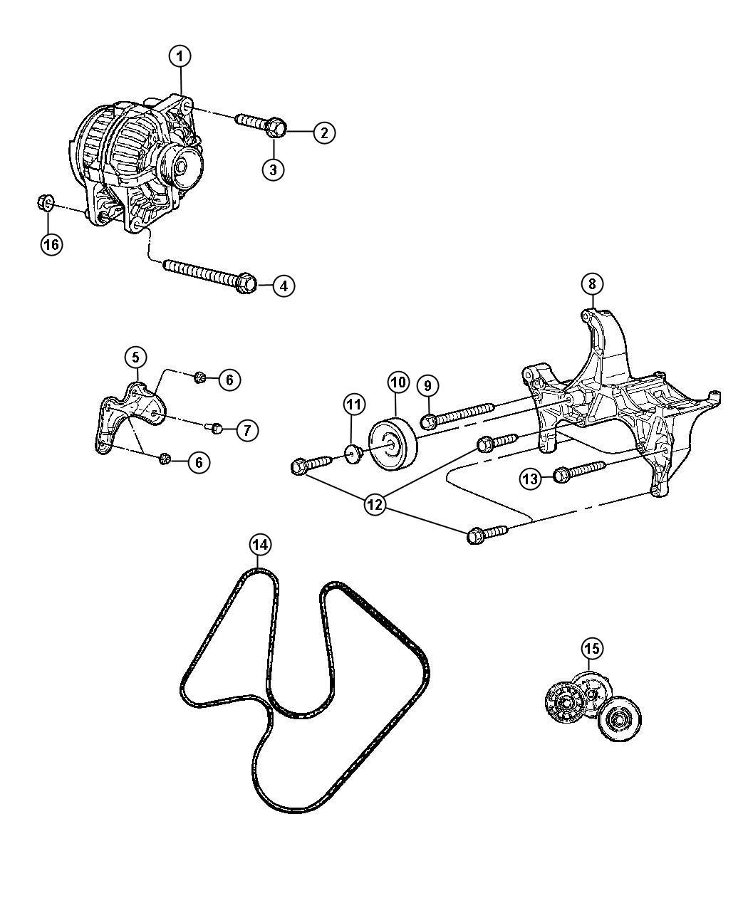 Dodge Dart Belt. Accessory drive, serpentine, surpentine