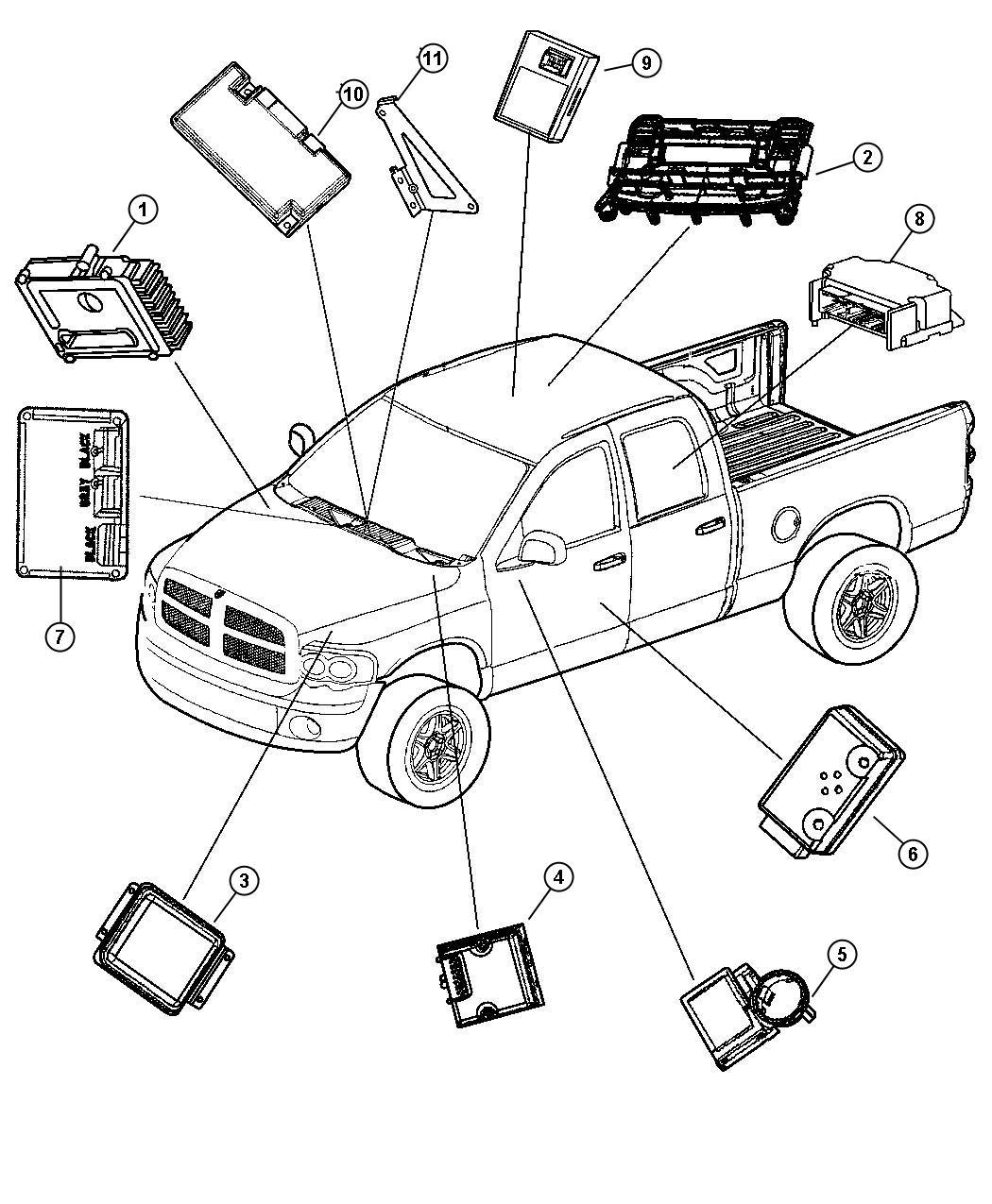 2004 Dodge Ram 1500 Module. Heated seat control. [jtd
