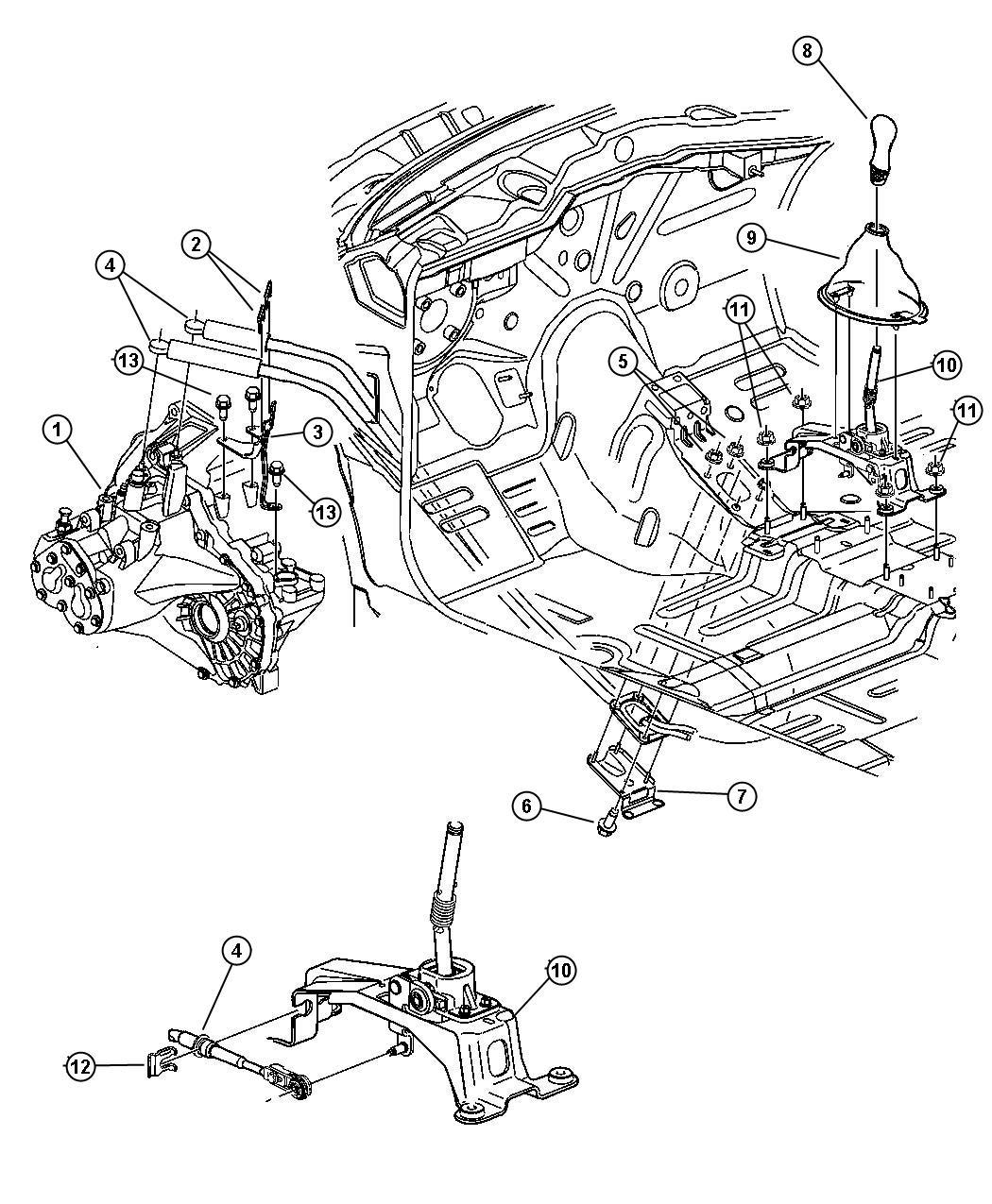 2005 Chrysler PT Cruiser Knob. Gearshift. With [cvz]. Trim