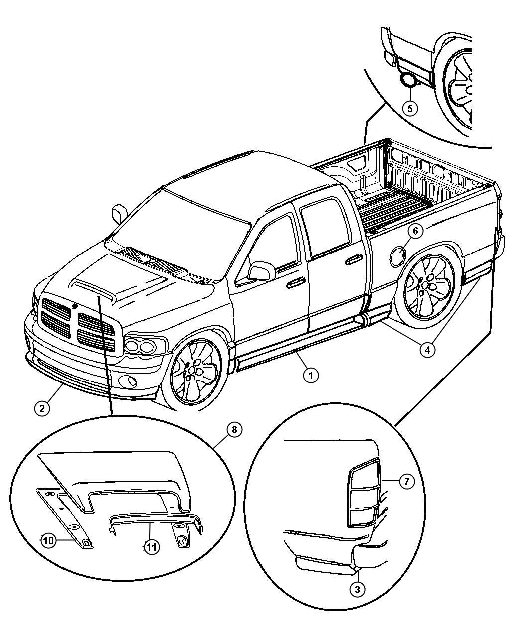 Dodge Ram Decal Kit Qtr Used For Qtr And Tailgate