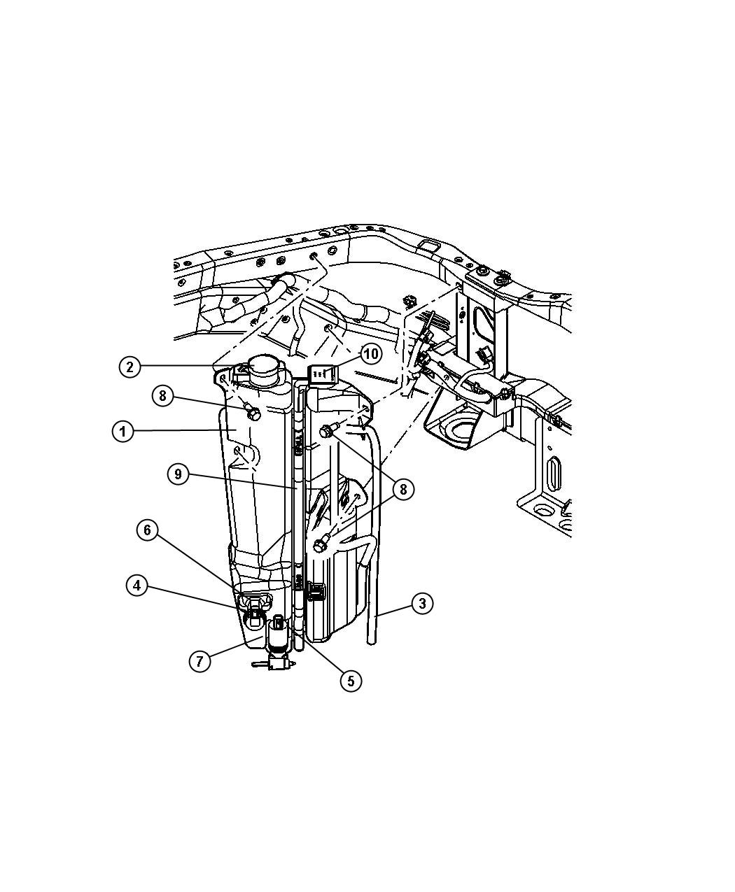 Jeep Liberty Sensor Washer Fluid Level