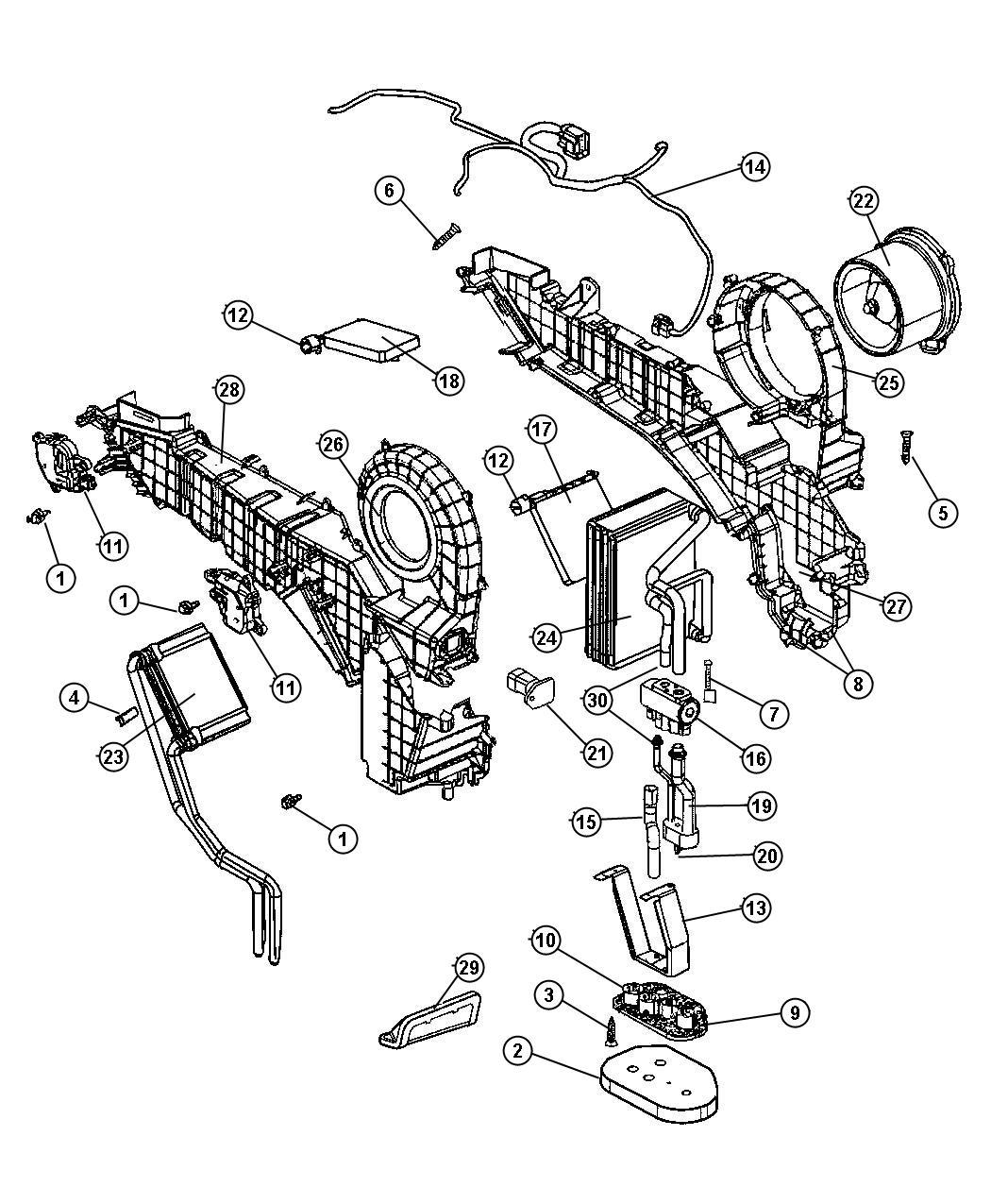 Dodge Ram Coupling Motor Link Actuator Air Conditioning Flange Servo Rubber