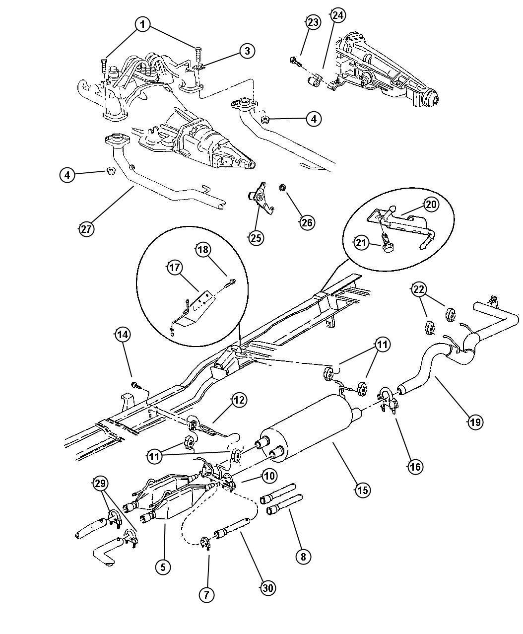 Dodge Ram 3500 Insulator. Exhaust. Ton, metric, enc