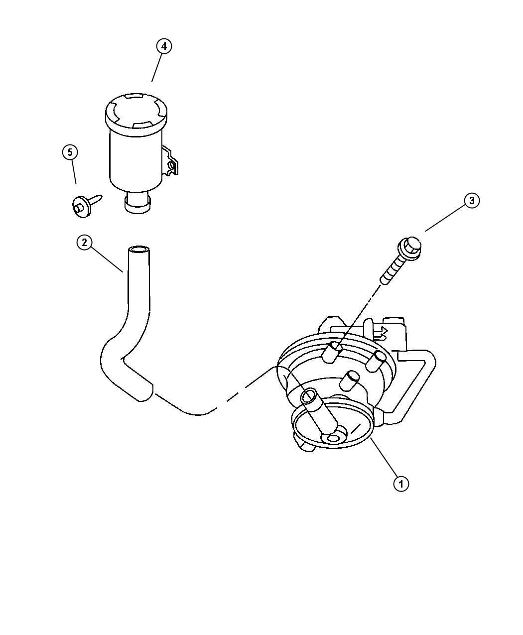 Dodge Durango Pump. Leak detection. Emissions, california