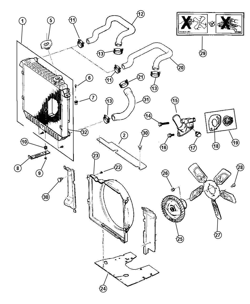 1998 Jeep Cherokee Shield. Engine. Related, radiator