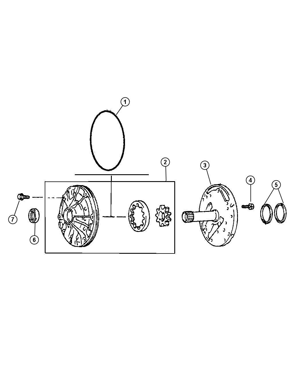1995 Jeep Cherokee Seal. Transmission oil pump. 52104180