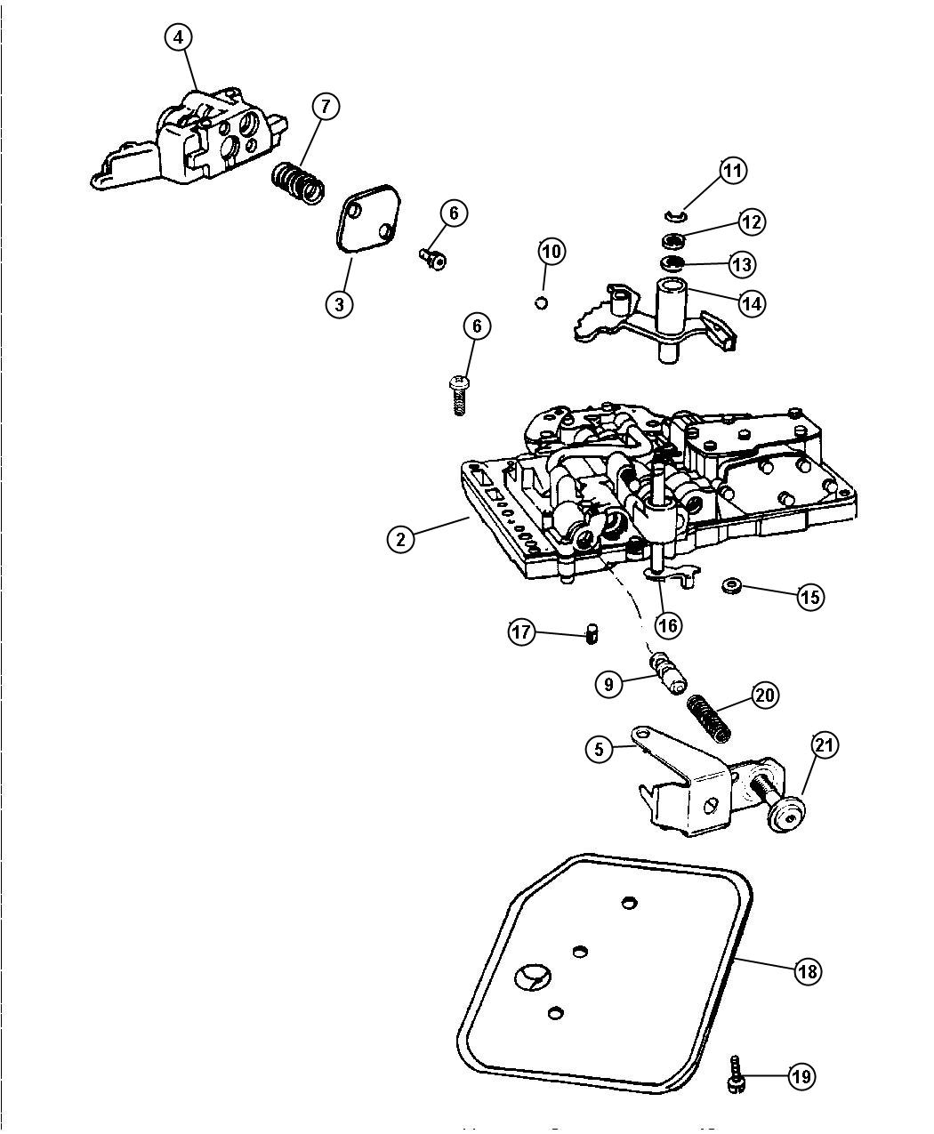 Jeep Cherokee Filter Valve Body
