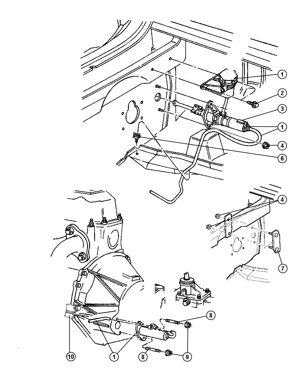 1994 Dodge Dakota Switch. Clutch starter interlock. [13