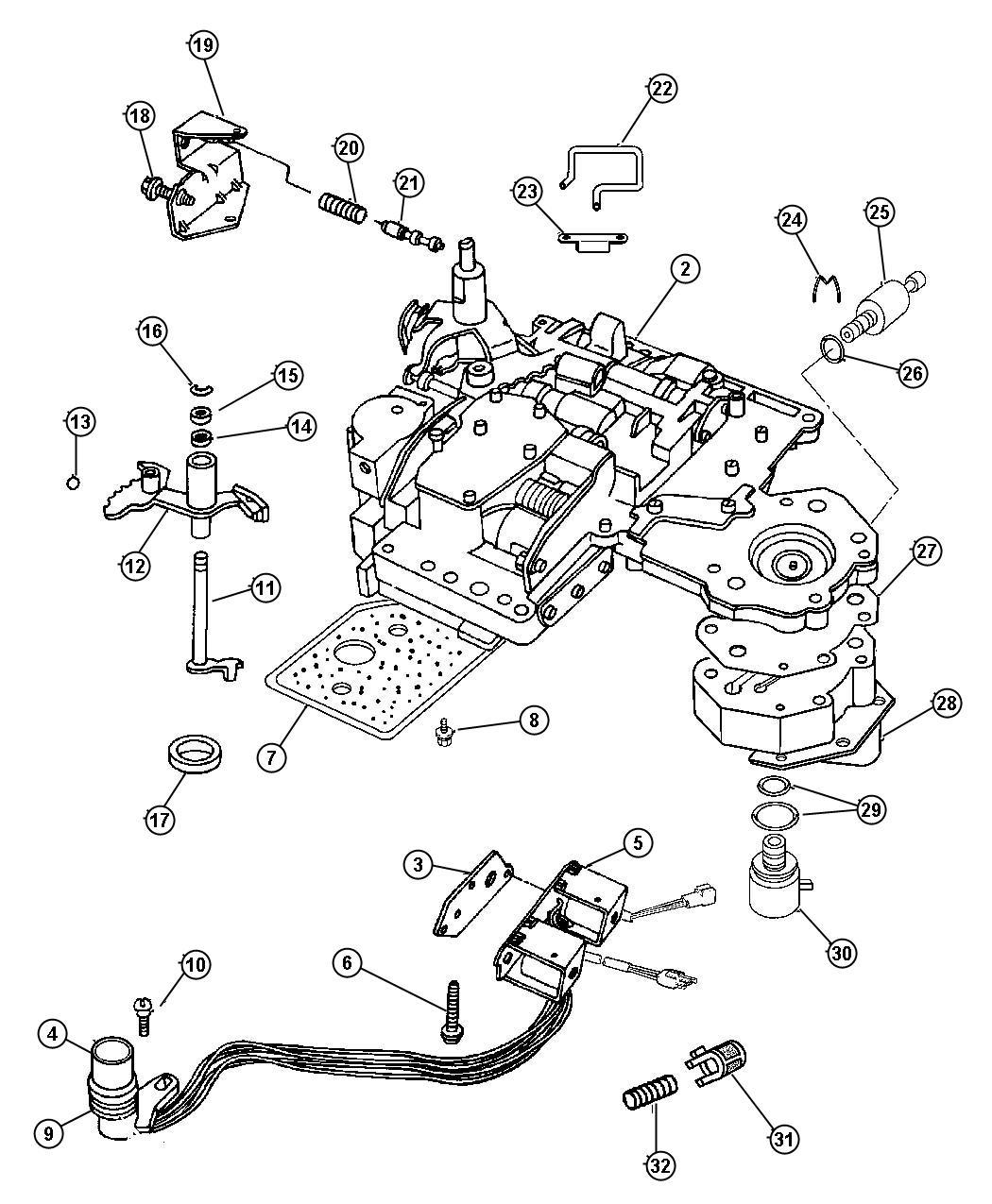 Dodge Journey Solenoid Transmission Overdrive Prong