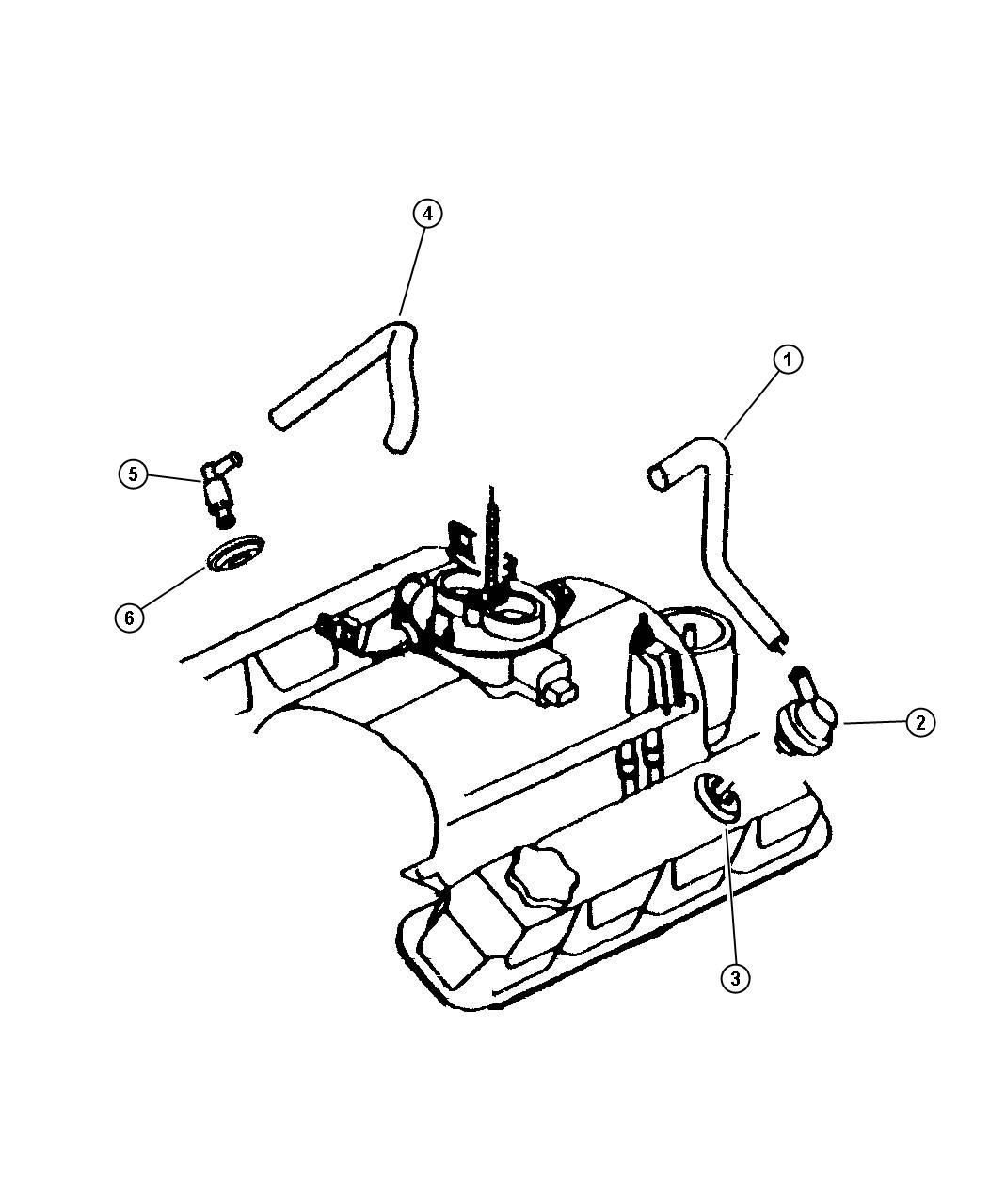 Chrysler Pt Cruiser Grommet Crankcase Vent Ventilation