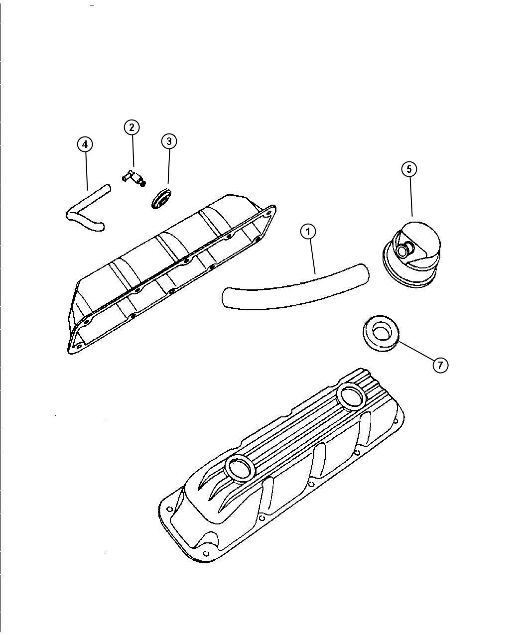 Dodge Ram Tube Pcv Valve Fuelemissions Lecold