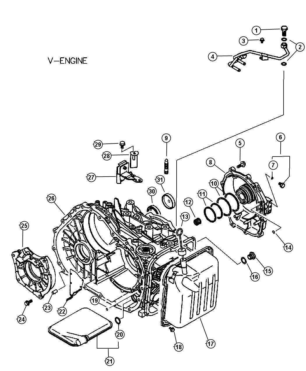 2005 Chrysler Sebring Gasket. Fuel line to filter. Eyebolt