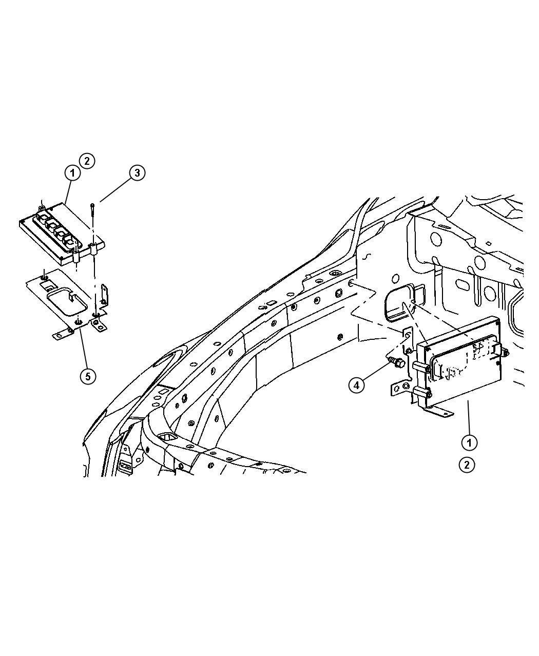 Dodge Durango Module. Powertrain control. Generic