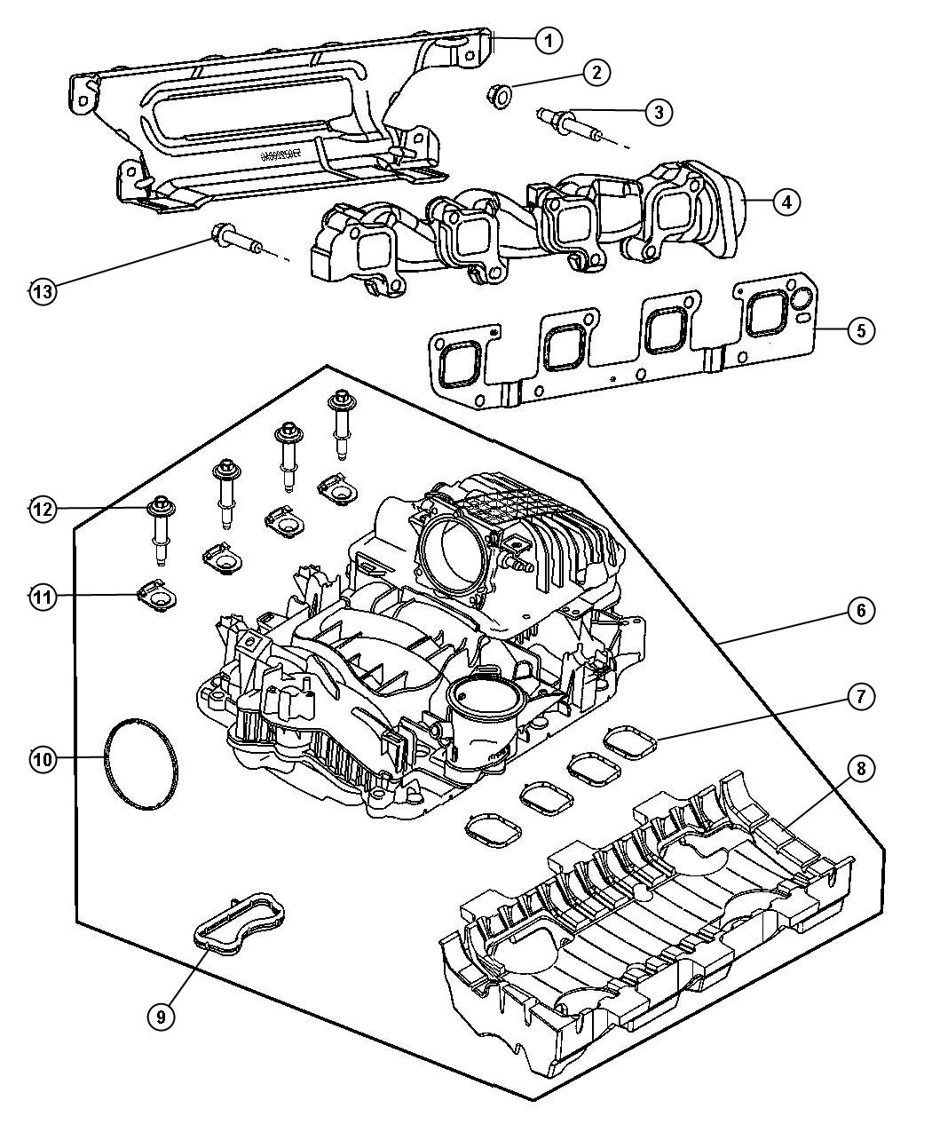 Dodge Ram Manifold Package Intake Engine