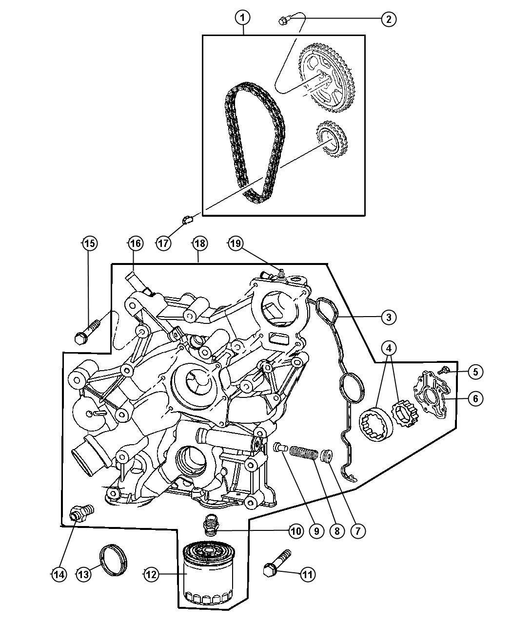 Dodge Ram Chain Package Timing Ewc Cover Belt