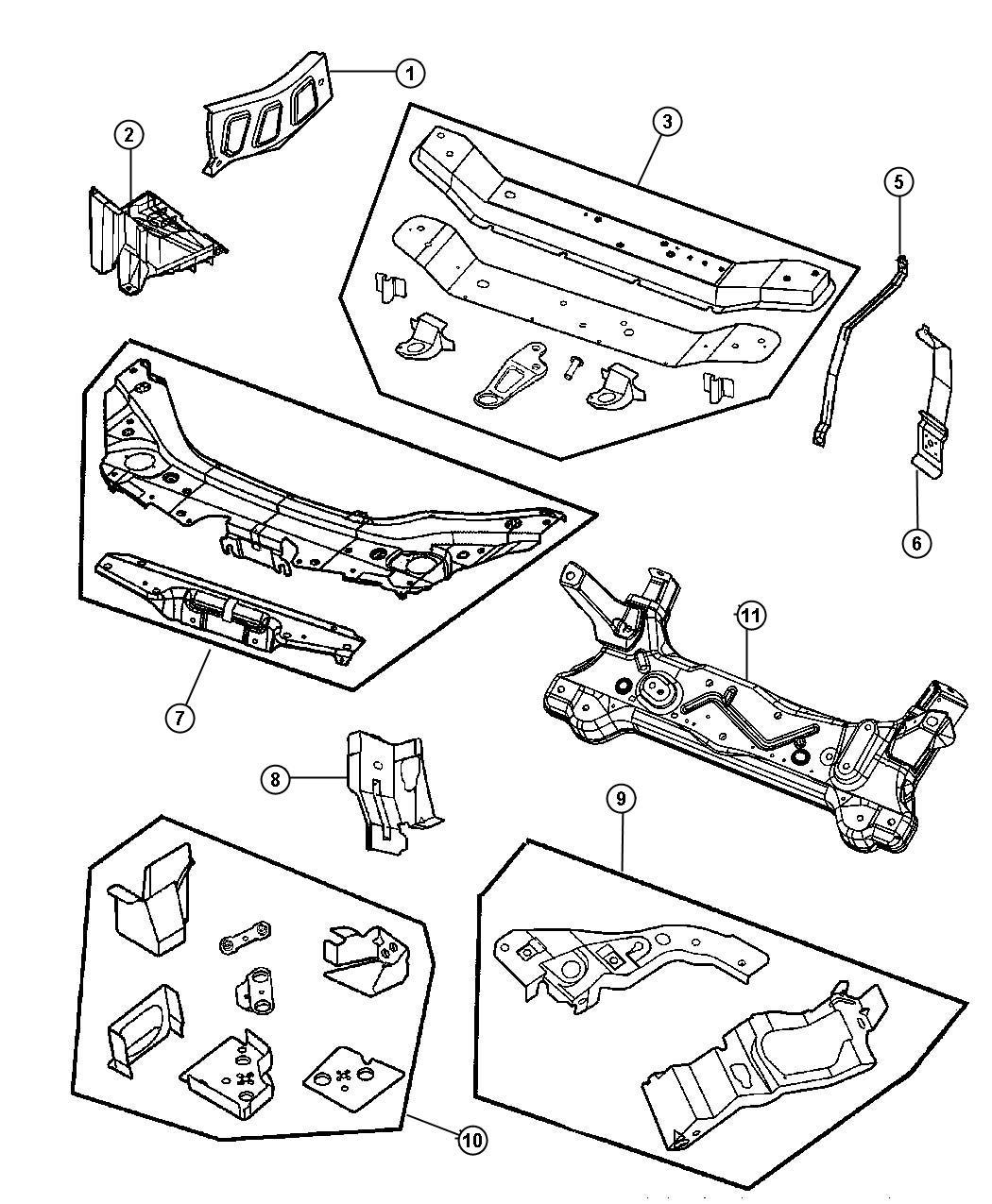 Chrysler Sebring Pin Push In M8 X 1 25 X 20 Fascia