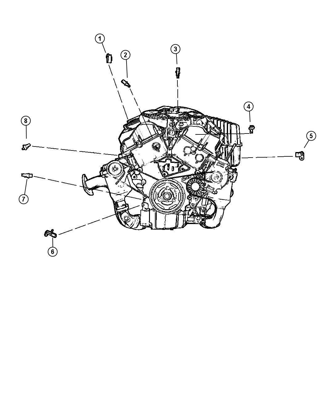 Chrysler Sebring Sensor. Crankshaft, crankshaft position