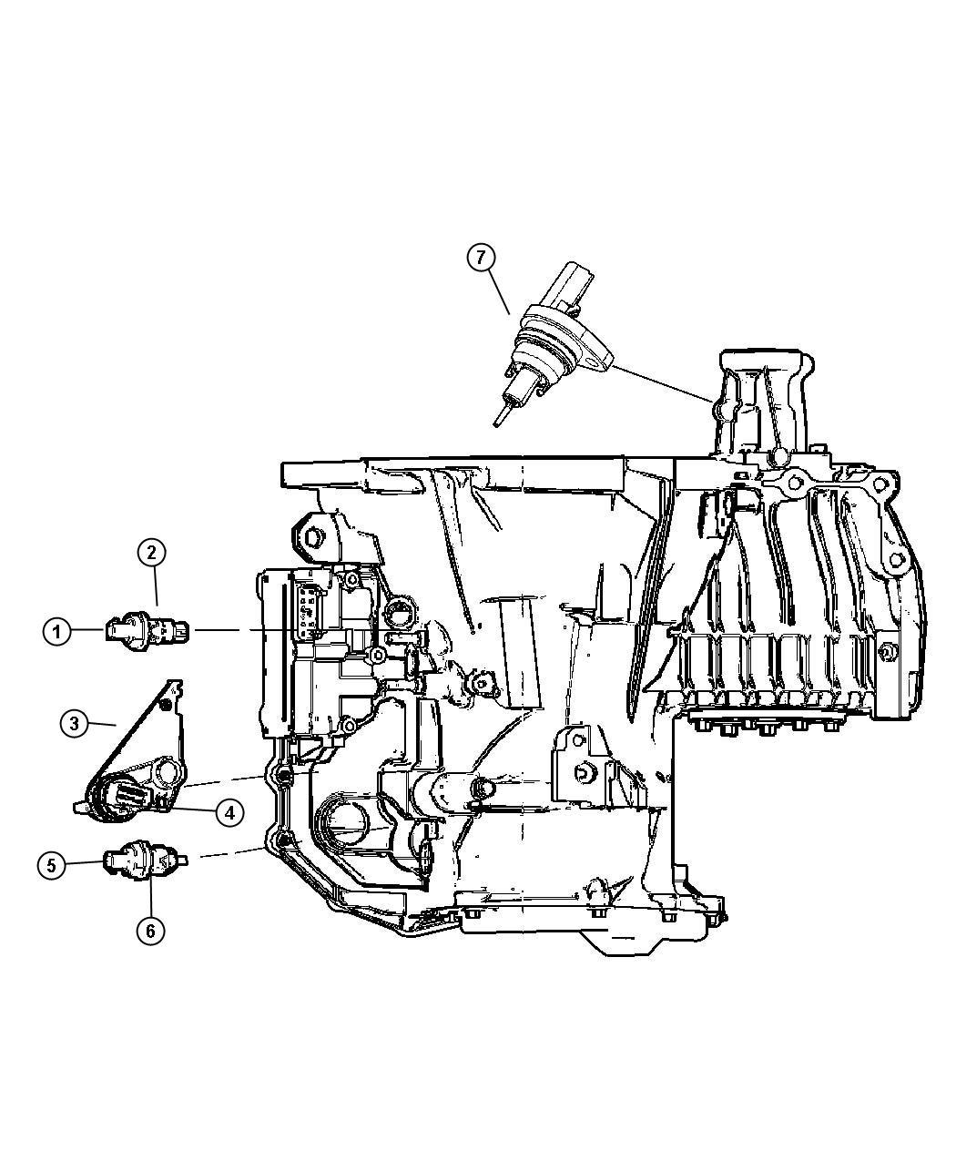 Chrysler Sebring Sensor. Vehicle speed. Transaxles