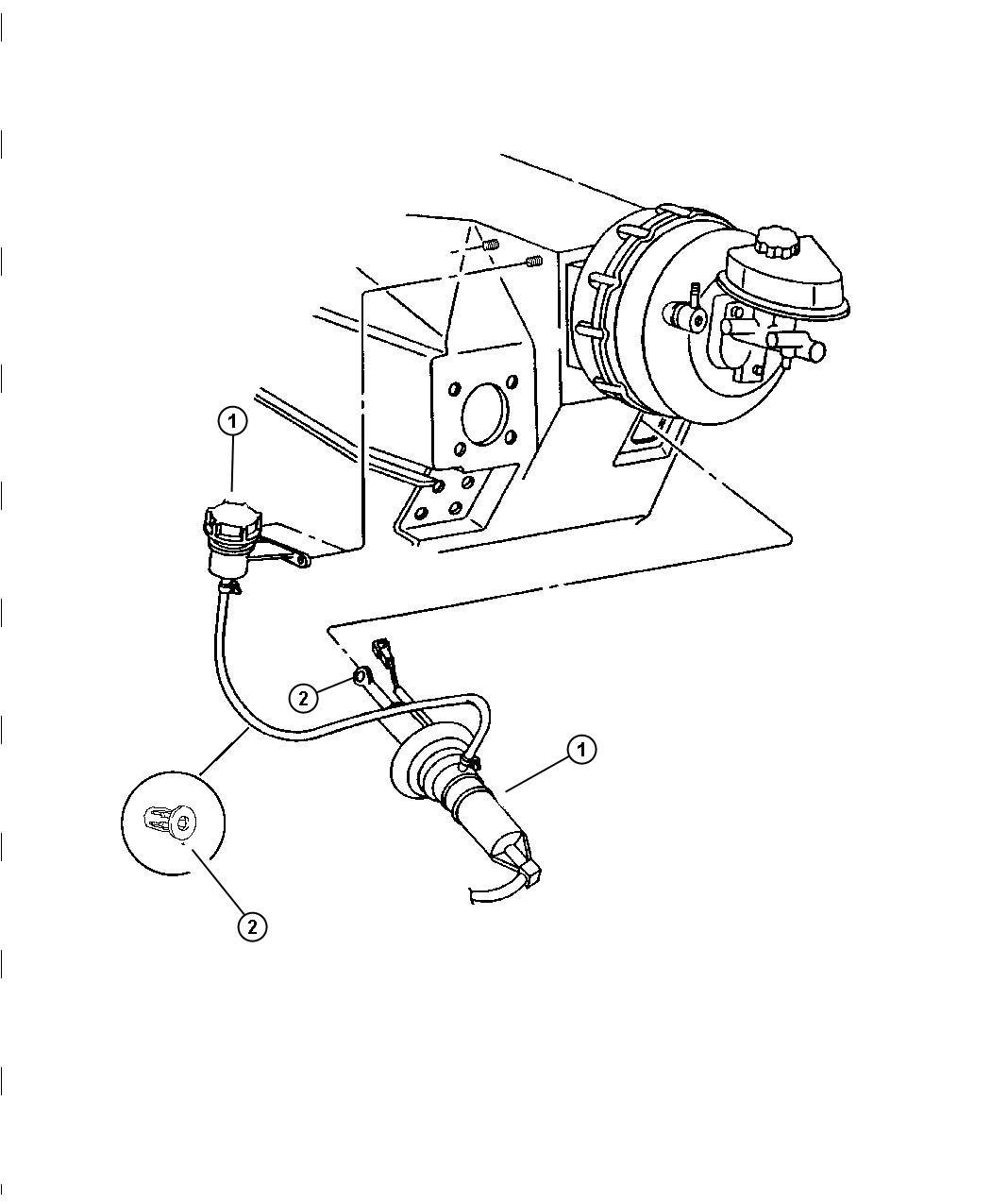 1996 Dodge Viper Actuator. Hydraulic clutch. System, mopar