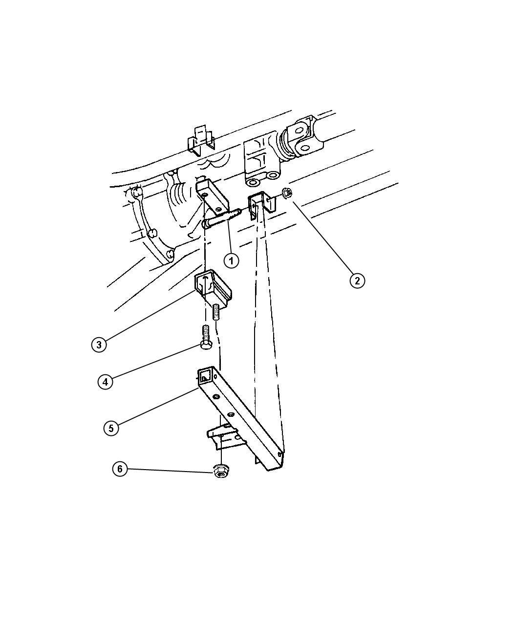 Dodge Viper Isolator. Transmission mount. Transmission