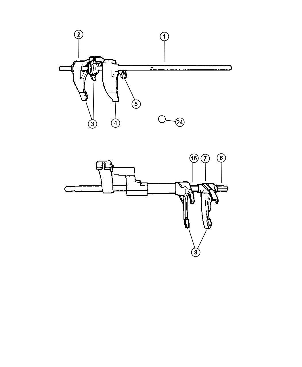Dodge Viper Fork Transmission Reverse Rear
