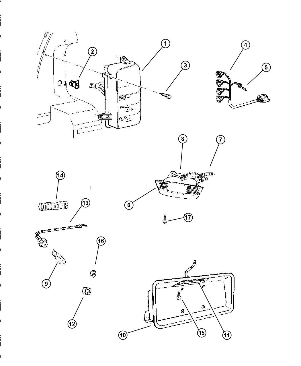 Dodge Dakota Wiring Tail Lamp With Sockets Rear