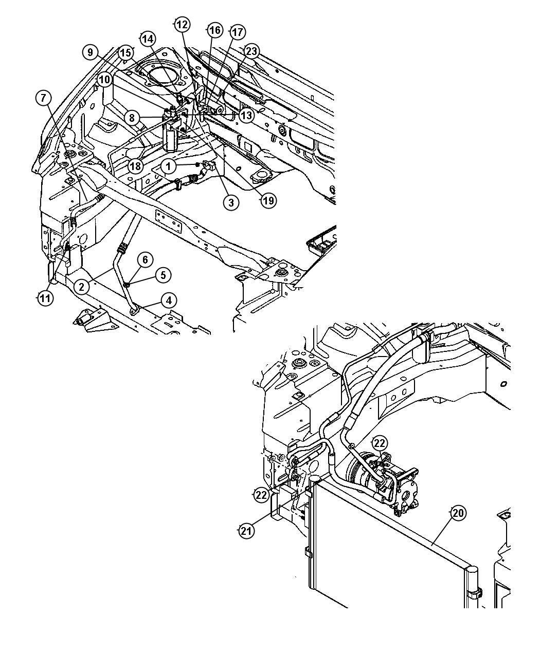 Dodge Caravan Valve, valve core. A/c line, charging