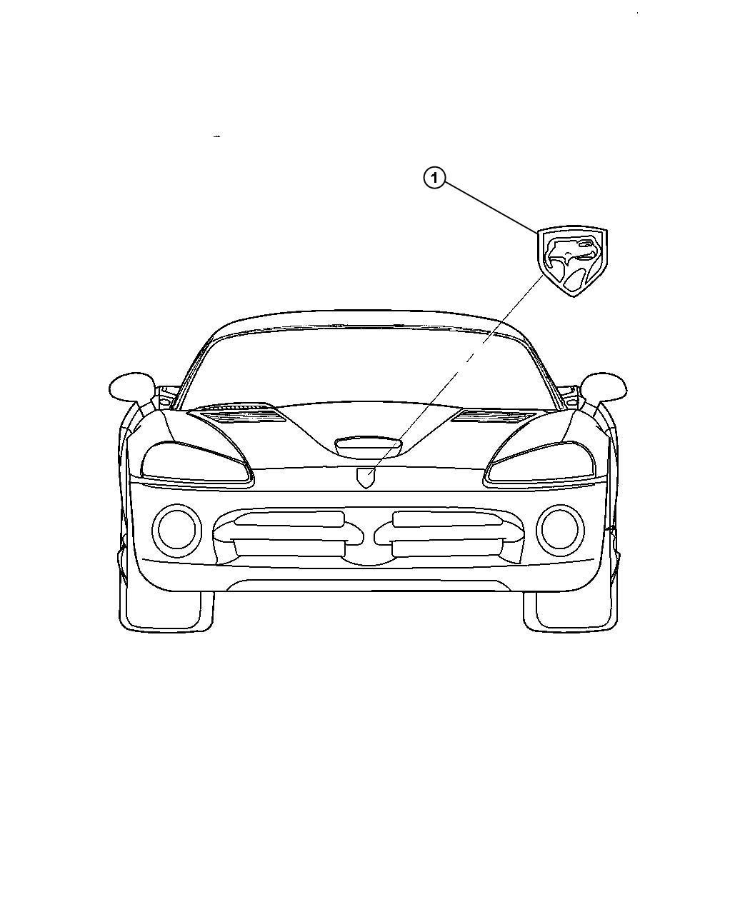 Dodge Viper Medallion. Viper head. [mamba edition group
