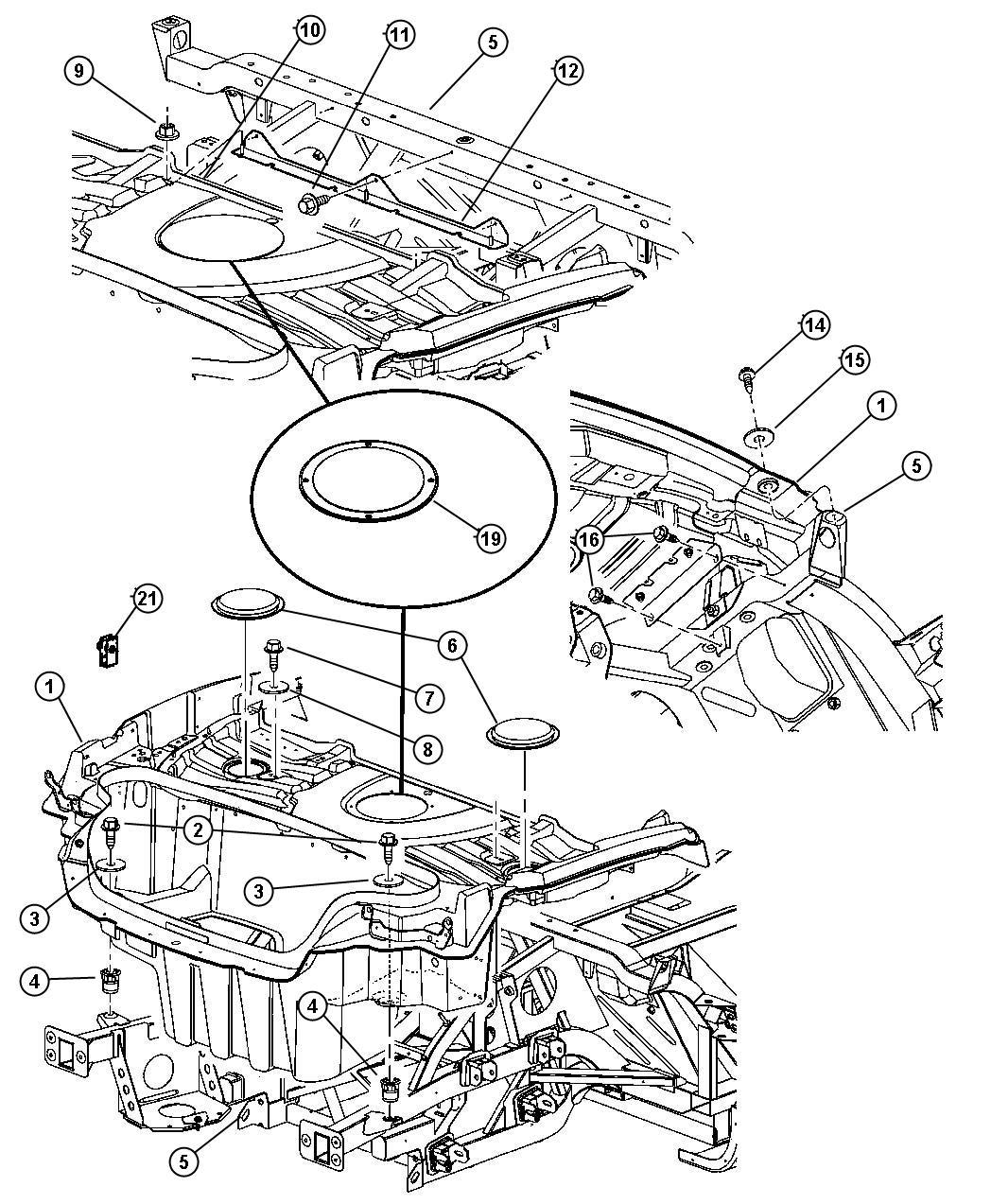 Dodge Viper Panel Fuel Access Trunk Floor
