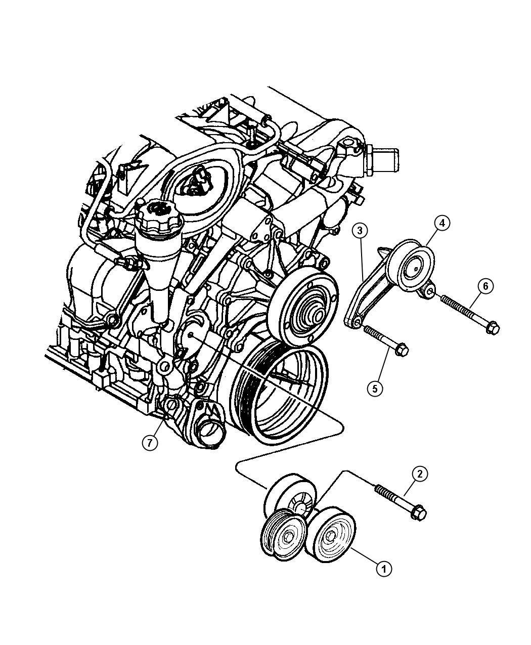 Dodge Avenger Bracket Idler Pulley All Vehicles W