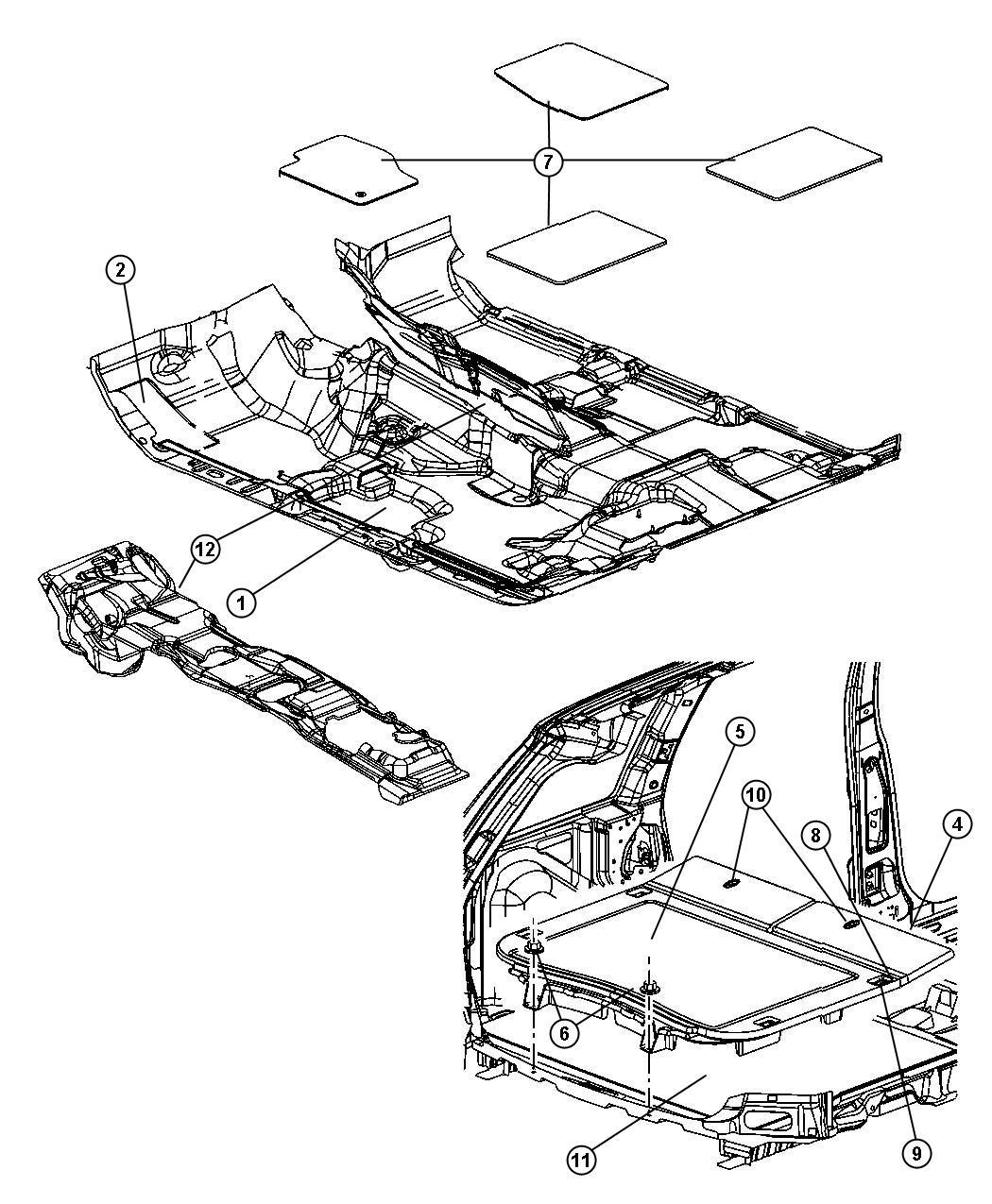 2005 Jeep Grand Cherokee Lid. Load floor. [d5]. Trim: [all