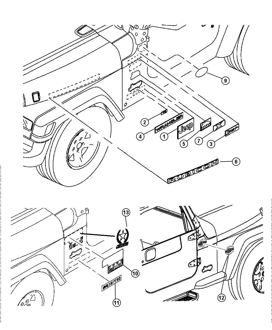 Jeep Wrangler Decal Unlimited Ker Color R Exterior Ker