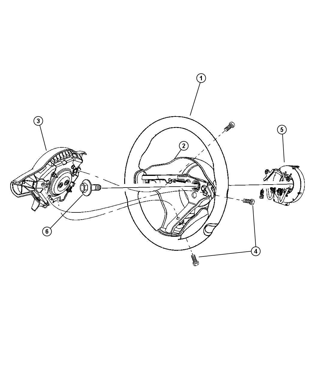 Dodge Viper Air bag. Driver. [xr]. Trim: [all trim codes