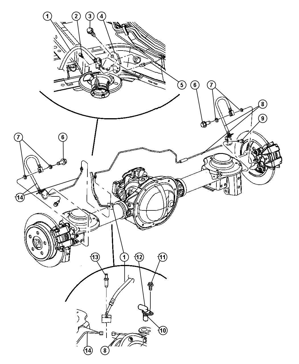 Jeep Liberty Hose. Brake. Left. Wheel, brakes, discbrakes