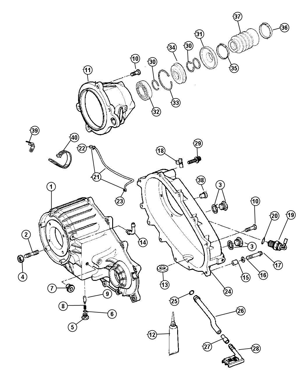 Jeep Liberty Bracket Oxygen Sensor Transmission Wiring