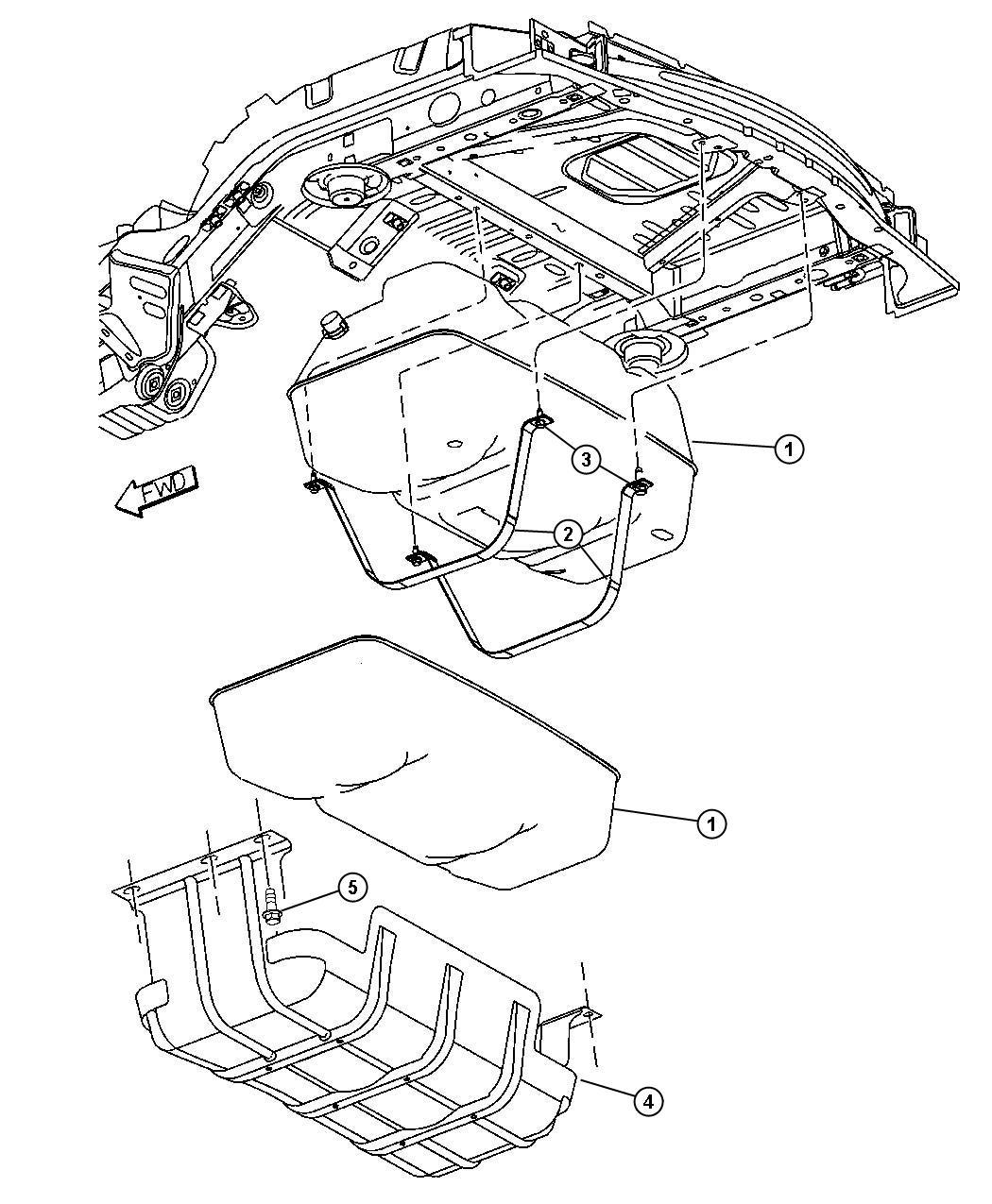 2005 Jeep Liberty Tank. Fuel. Gallon, mopar, filter