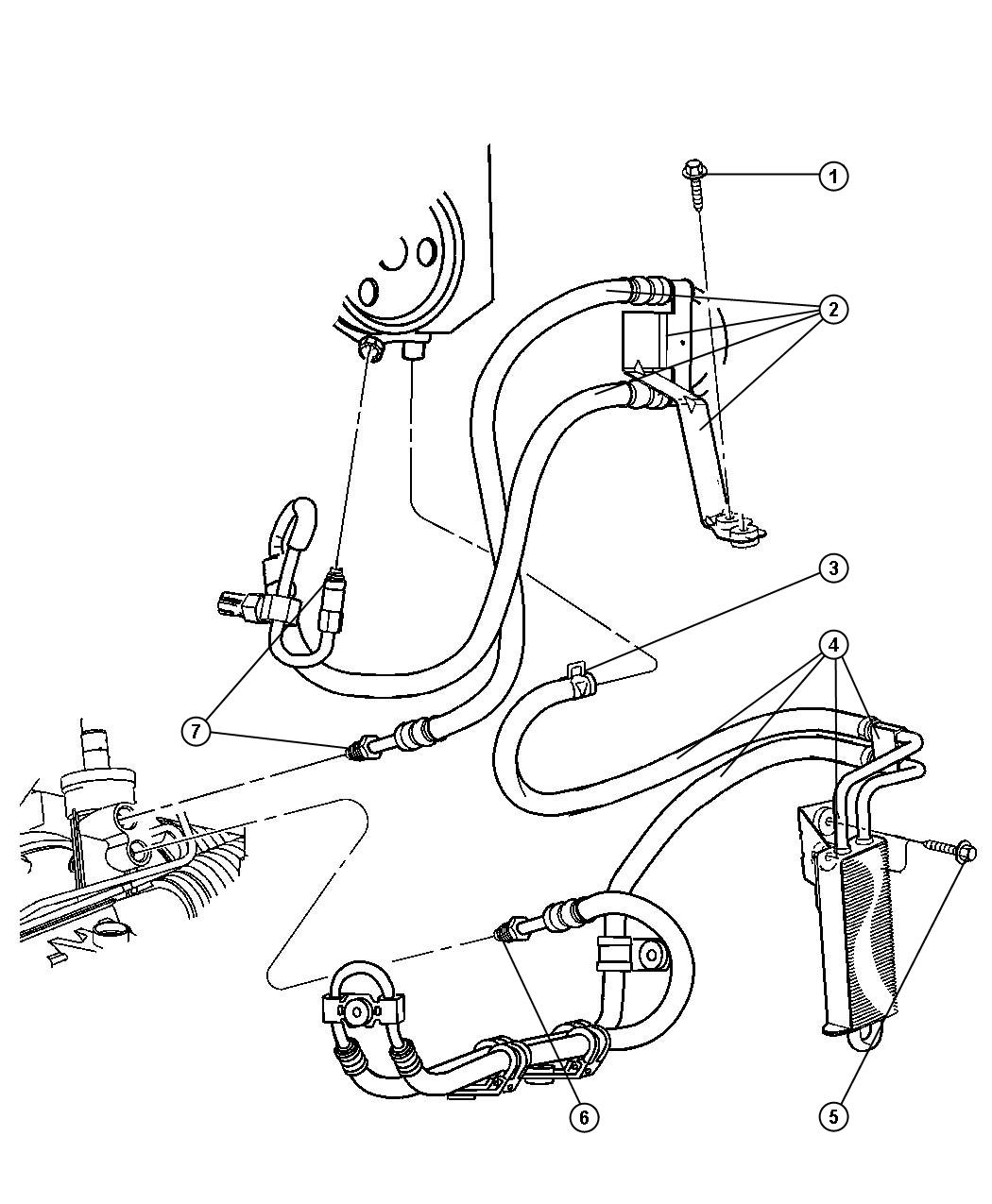 Jeep Liberty Cooler Power Steering With Hose 3 7l
