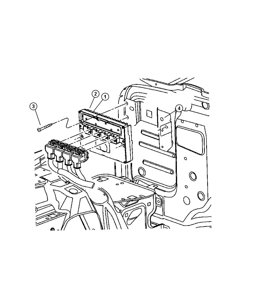 Jeep Wrangler Module. Powertrain control. Generic