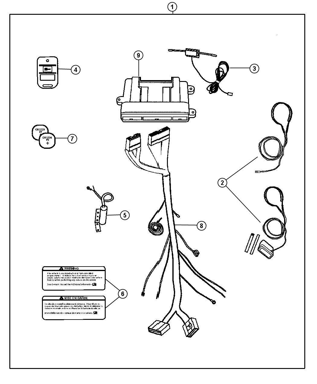 Jeep Liberty Transmitter. Remote, kit, installation