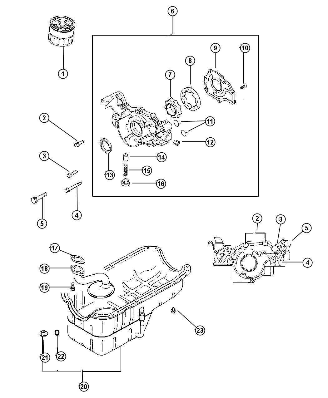 Dodge Avenger O ring. Engine front case. (15.3). Oiling