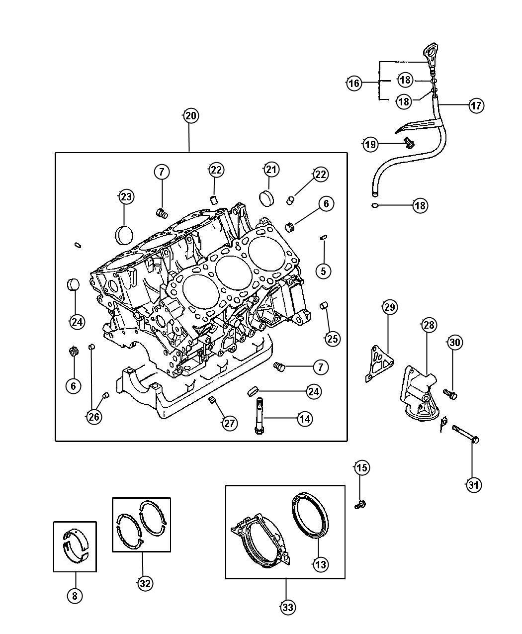 Dodge Avenger Bushing. Cylinder block. (12x13), 12x13