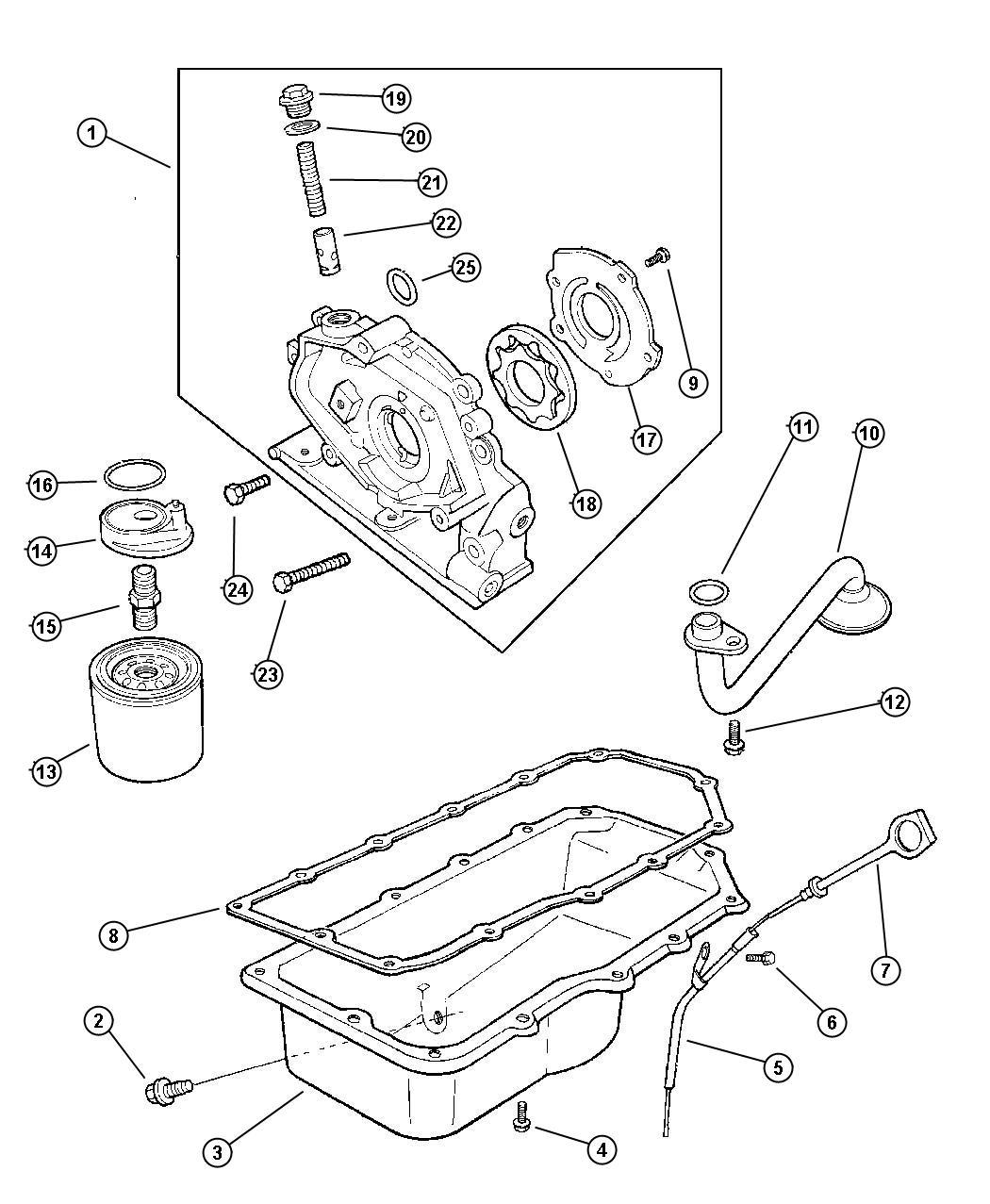 Dodge Avenger Filter. Engine oil. Magneti marelli