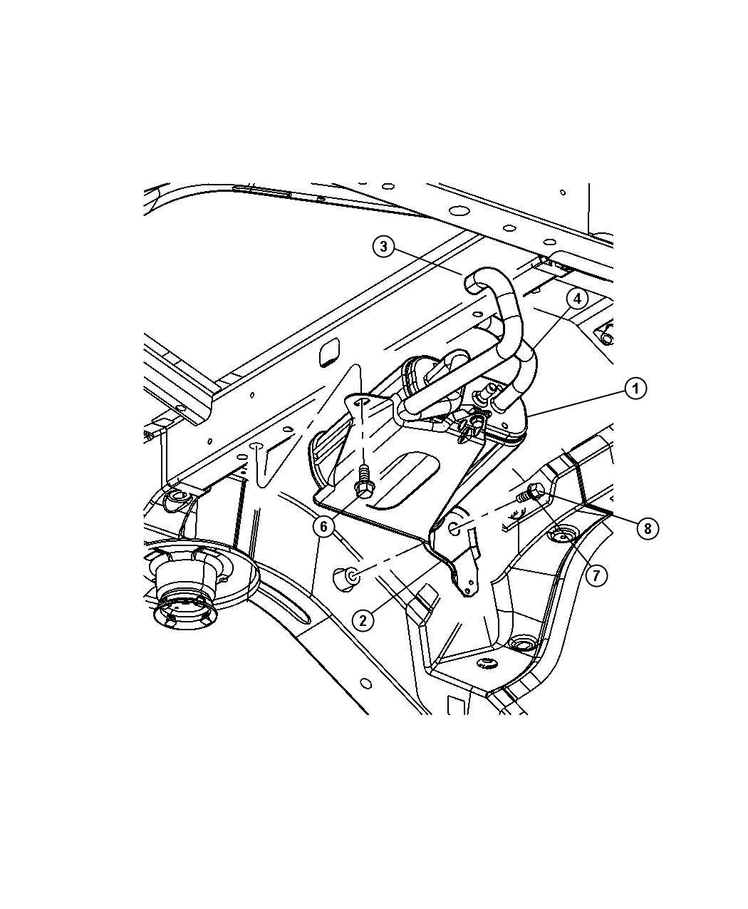 2010 Dodge Grand Caravan Hose. Canister to vent valve