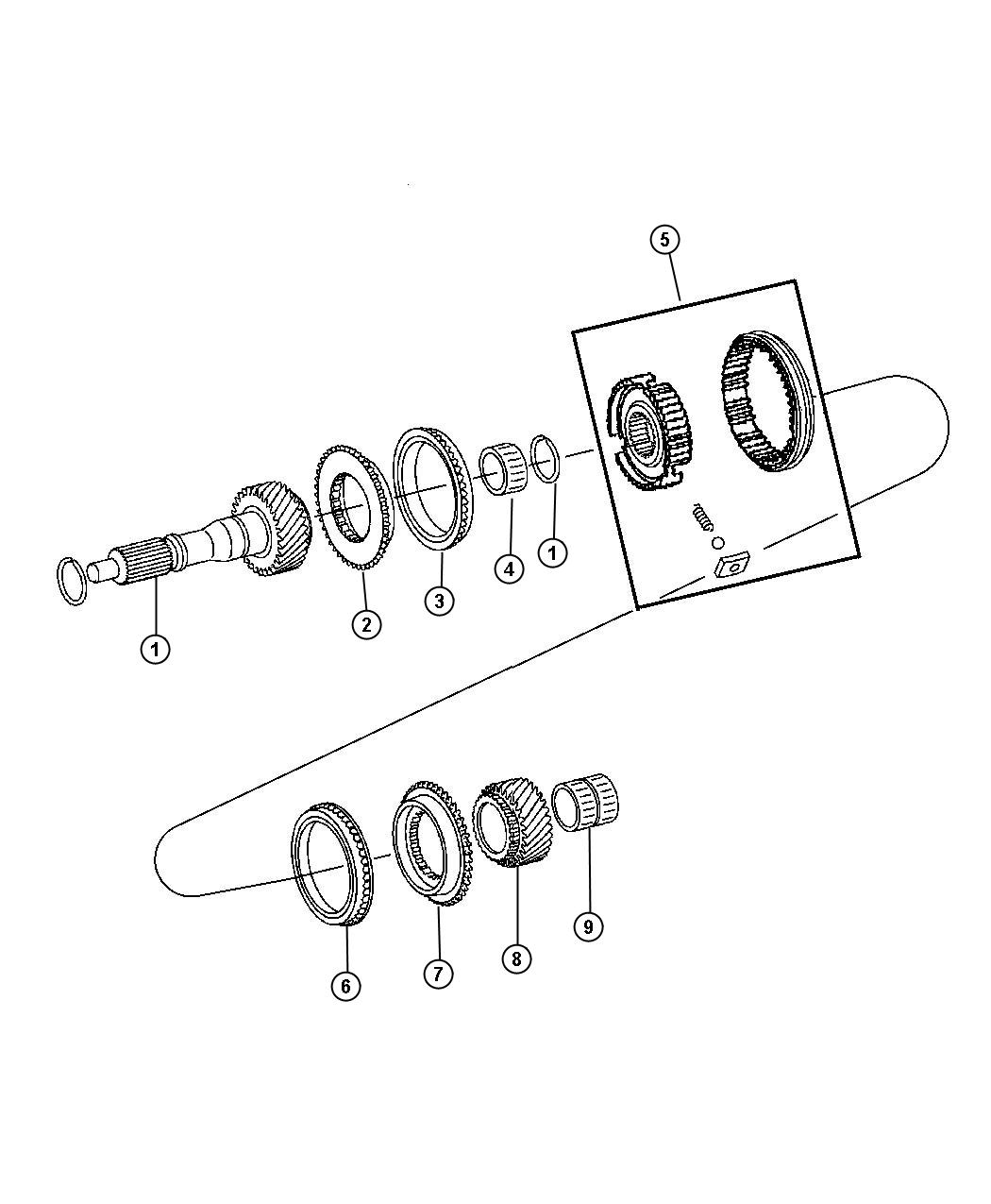 Dodge Dart Bearing. Needle. Input, shaft, fuel