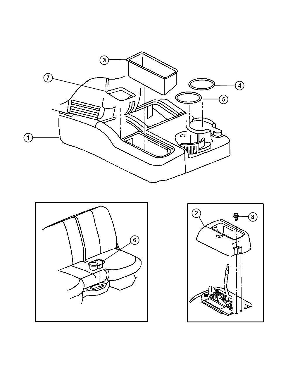 Dodge Ram 1500 Boot. Gear shift lever. Upper. [6-speed