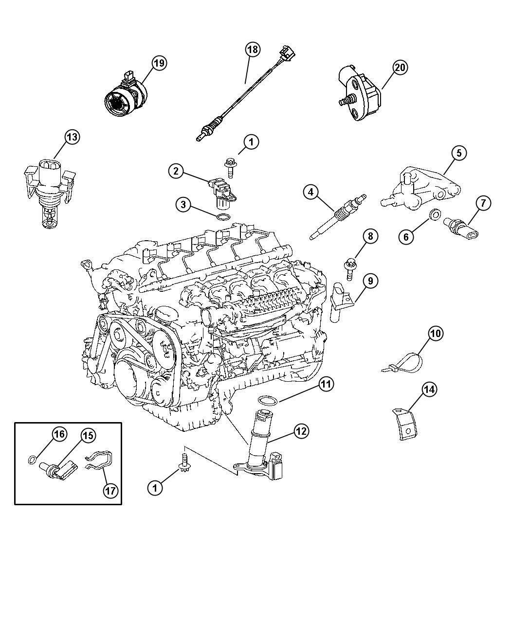 Dodge SPRINTER Sensor. Mass airflow. Engine, cleaner