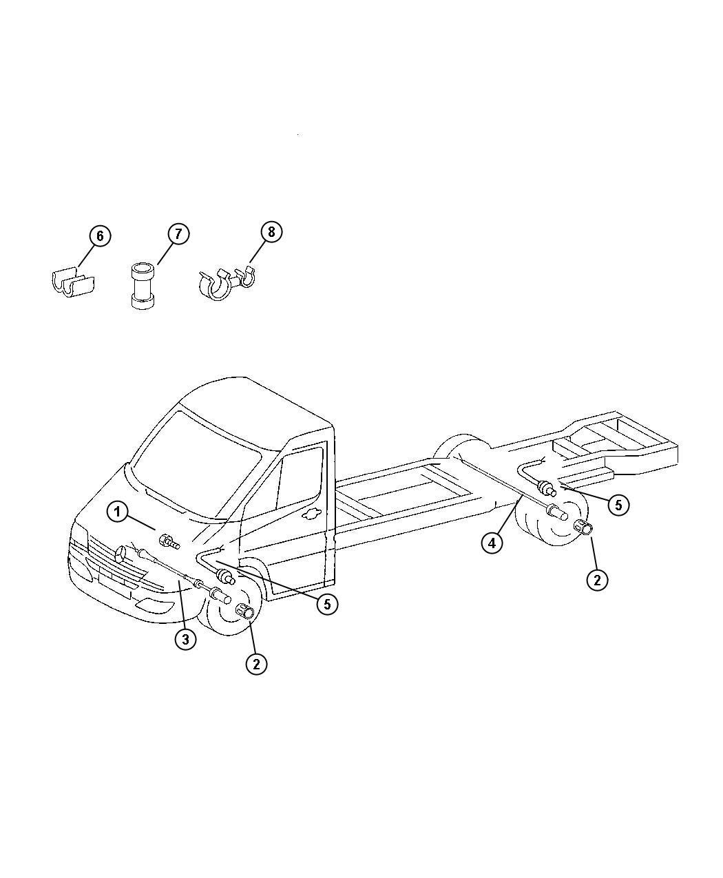 Dodge Sprinter Bracket Heater Auxiliary Sender
